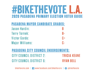 Bike The Vote L.A. 2020 Pasadena Primary Voter Guide